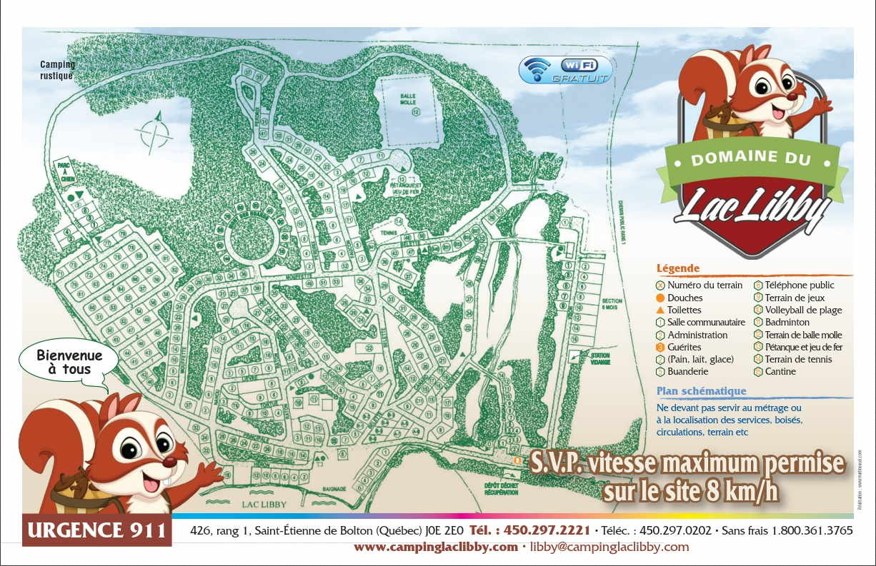 58686 Camping Lac Libby carte terrains camping_WEB